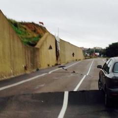 Scorrimento di Montescaglioso, la strada dopo l'alluvione