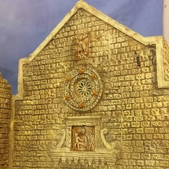 Il rosone della chiesa della Palomba nel presepe di Artese