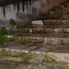 Pioggia a Matera i Sassi