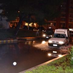Pioggia a Matera strade