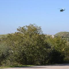 L'ispezione in volo dell'assessore Braia e della Protezione Civile