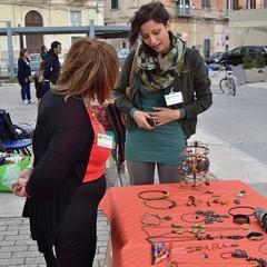 L'ecomercatino in piazza Cesare Firrao