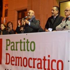 Comizio conclusivo del Pd con Epifani e Pittella