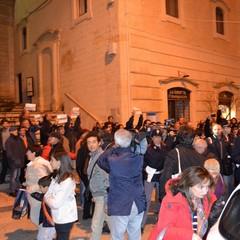 L'uscita di Epifani da piazza Vittorio Veneto