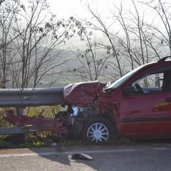 Incidente SS7 Fiat Panda coinvolta