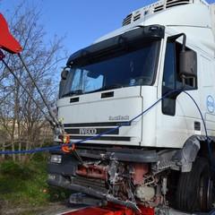 Incidente SS7 camion coinvolto