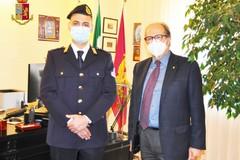 Questore Eliseo Nicolì e Guardia giurata Paolo Carlucci