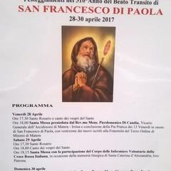 Festeggiamenti Beato transito San Francesco di Paola