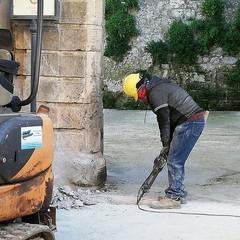 lavori piazza Sedile