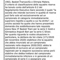 Olimpia- risposta Fip Puglia