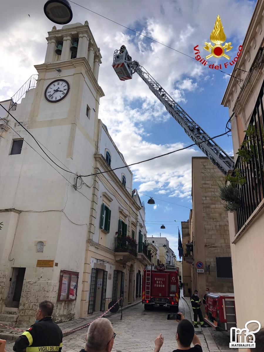Vigili del fuoco a Montescaglioso