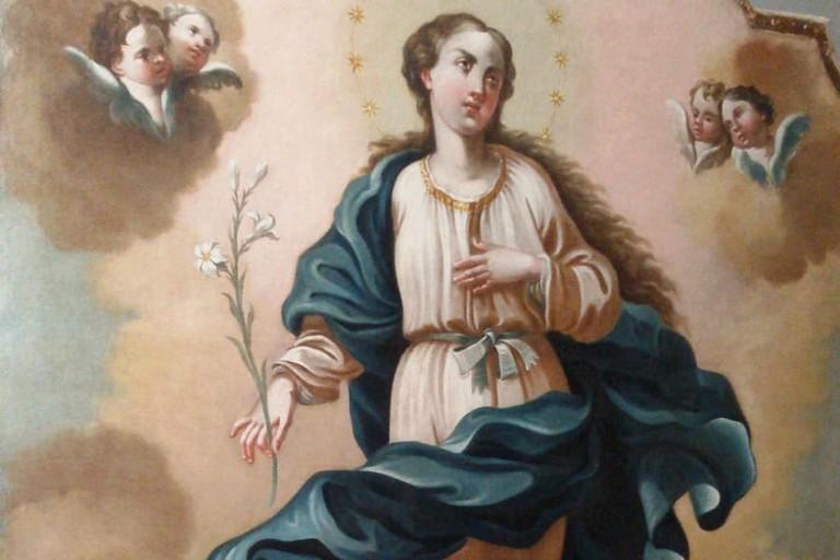 tela del'immacolata- chiesa san Francesco