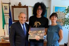 Il musicista Giovanni Allevi ricevuto al Comune