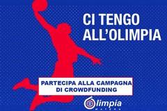 """Olimpia Basket, al via la raccolta fondi """"ci tengo all'Olimpia"""""""
