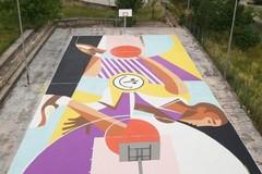 A Matera il campetto più colorato del mondo