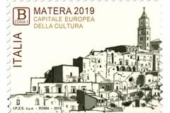 Ecco il francobollo celebrativo di Matera 2019