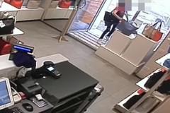 Ruba borsa da vetrina di negozio, denunciata