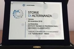 """Alternanza scuola-lavoro, 2° posto per l'istituto """"Morra"""" nel concorso nazionale"""