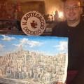 Mario Daddiego dona un'opera alla Questura di Matera