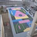 Inaugurato il campo di basket in piazza degli Olmi