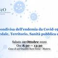 Un convegno su gestione Covid-19 in Basilicata tra ospedale, territorio, sanità pubblica e privata