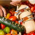 Un'Orchestra con la sinfonia di frutta e verdura