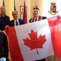 In Questura una bandiera del Canada