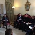 I giornalisti locali a colloquio con il vescovo