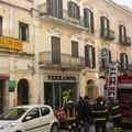 Incendio in pieno centro a Matera