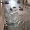 Violento temporale a Matera, strade allagate e fiumi d'acqua nei Sassi