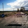 La strada Pantano chiusa per lavori