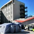 """Coronavirus: attività di prevenzione, una tenda all'ospedale per il  """"pre-triage """""""