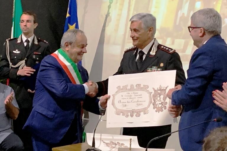 Cittadinanza onoraria all'Arma dei Carabinieri