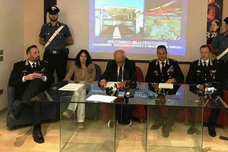 Conferenza stampa con il procuratore Pietro Argentino