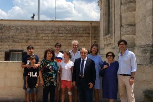 il Console Ortona e famiglia in visita a Matera