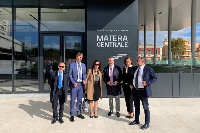 Stazione Fal Matera Centrale- visita assessore regionale Merra