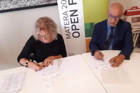 firma protocollo tra Ulepe e Fondazione Matera 2019