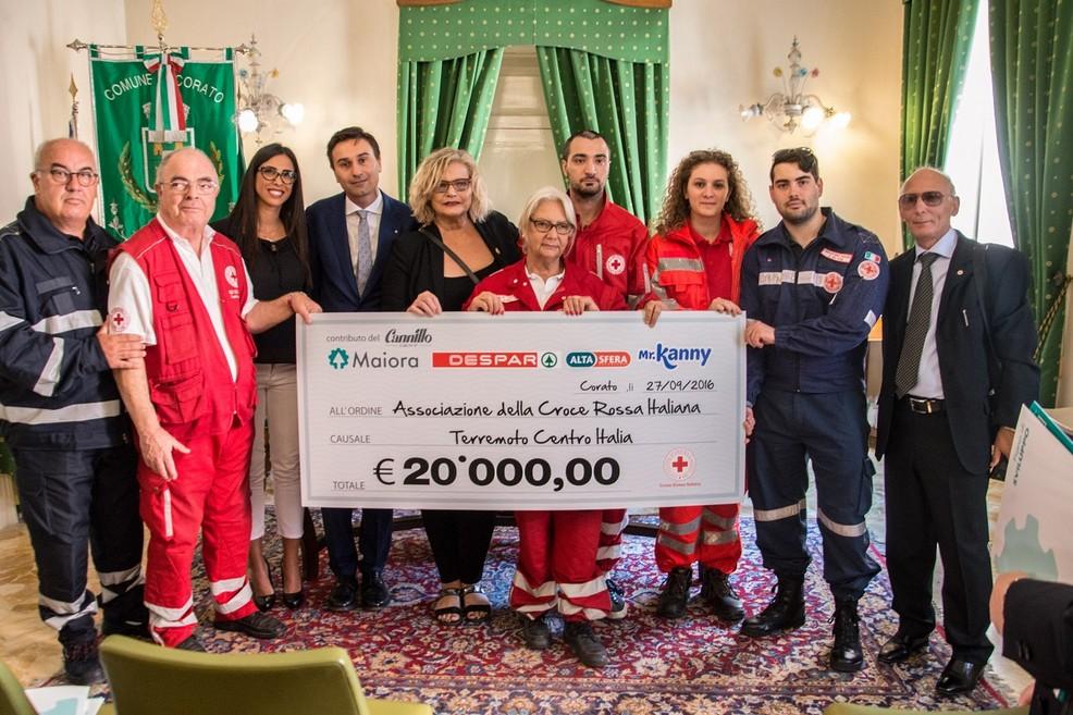 Despar dona 20.000 euro ai terremotati