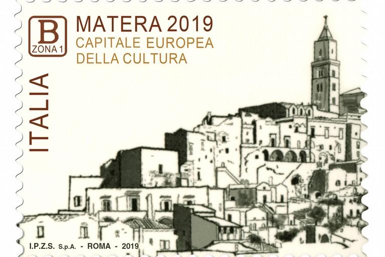Francobollo celebrativo di Matera 2019