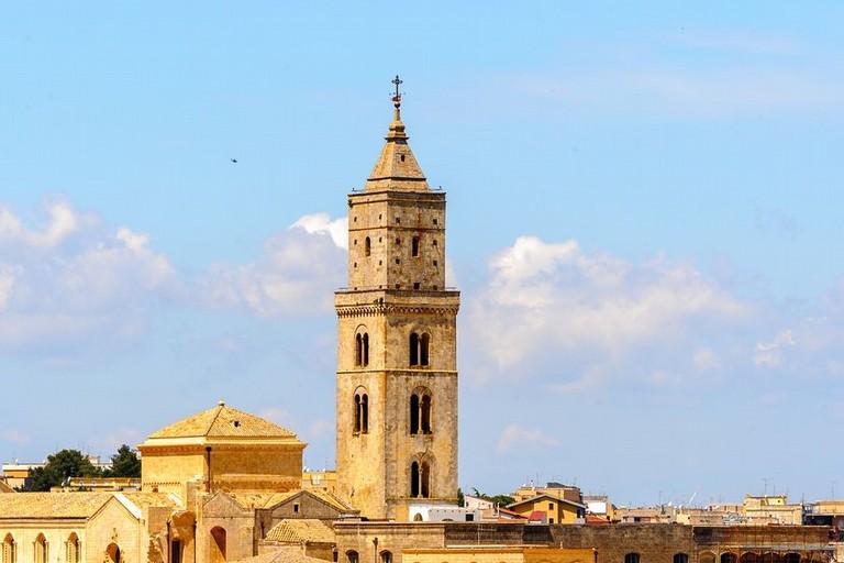 Campanile cattedrale di Matera prima della ristrutturazione