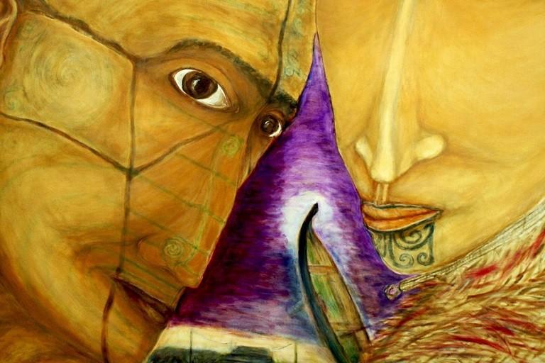Mostra artista maori Joseph Rickit