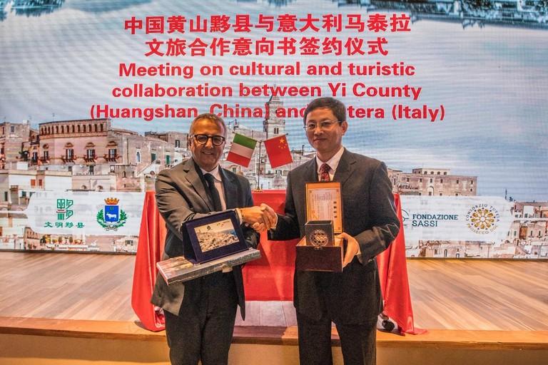 l'assessore Nicola Trombetta rappresenta Matera in Cina