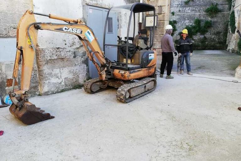 lavori piazza del Sedile