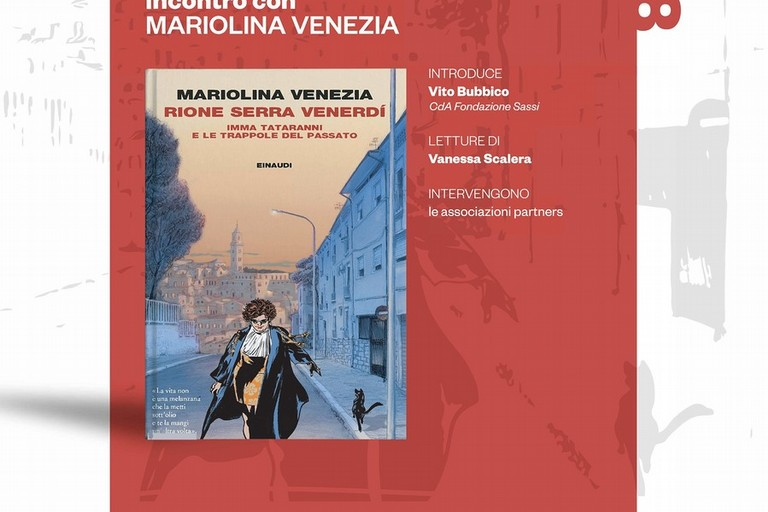 Locandina presentazione libro Mariolina Venezia