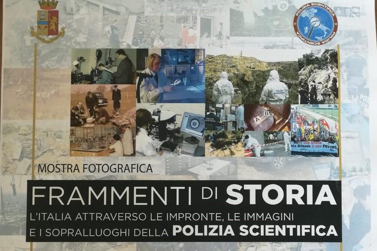 Locandina mostra fotografica polizia scientifica