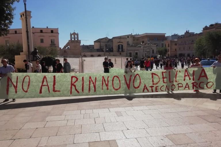 A Matera la protesta del Movimento di tutela della Valbasento