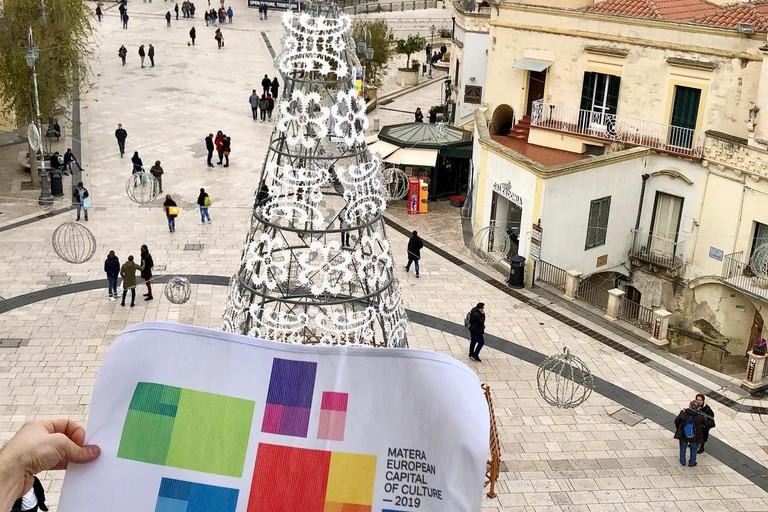 Bandiere Matera2019 - Foto Fondazione Matera-Basilicata2019 (Facebook)