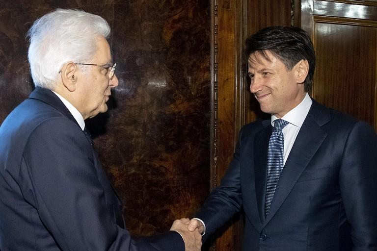 Sergio Mattarella e Giuseppe Conte