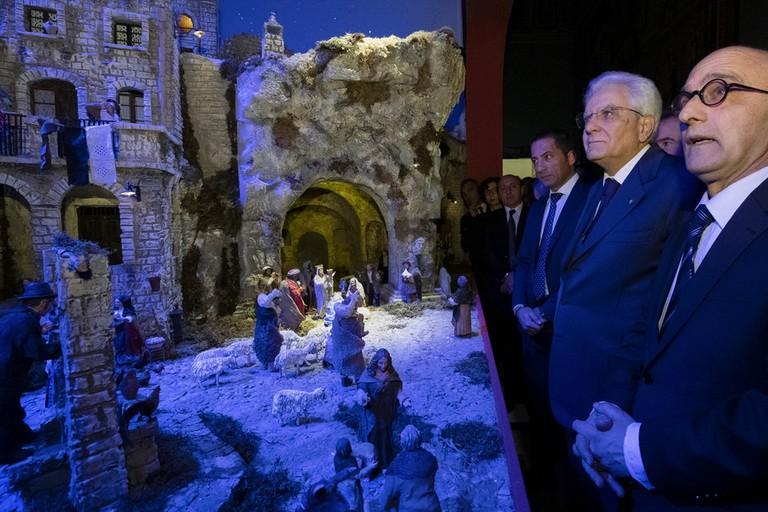 Mattarella inaugura Presepe di Matera