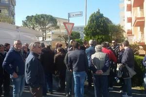 Protesta commercianti mercato